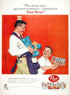 1957 | 1950s post cereal advertisement | vintage 50s ad