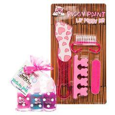 Piggy Paint Birthday Bash Non-Toxic Nail Polish and Pedicure Set, Bday Bash