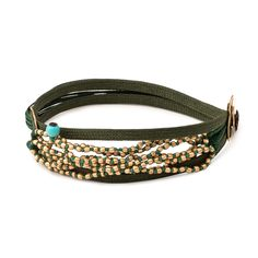 gold on cords Cord Bracelets, 18k Gold, Beads, Jewelry, Fashion, Schmuck, Beading, Moda, Jewlery