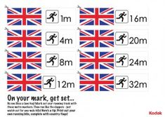 Print off these fantastic Kodak running markers, to stage some running event of your own during the London 2012 games! iChild.co.uk