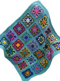 Crochet afghan kaleidoscope handmade by CrochetKaleidoscope, $90.00