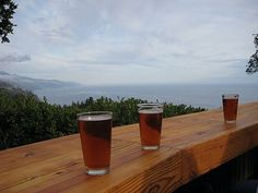 Brew with a view at Nepenthe, Big Sur. Best place in space.