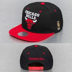 23d95f19b9098 Mitchell  amp  Ness Gorra   Gorra Snapback Chicago Bulls en negro 92515 Chicago  Bulls