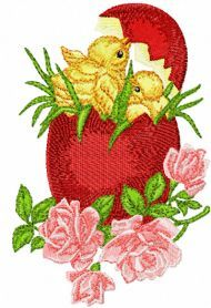 Easter Egg free machine embroidery design. Machine embroidery design. www.embroideres.com