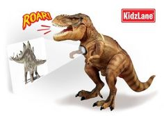 """Cool Gadgets For Boys: Dinosaur T-Rex Room Guard with Motion Sensor that Activates 5 Mighty Roar Sounds - Projects 24 Dinosaur Images on your Wall - """"New Hottest Dinosaur Toy"""""""