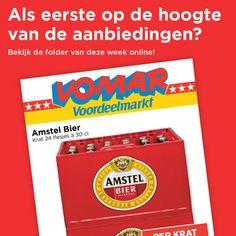 In december pakken wij weer voordelig uit! Wat dacht u van een krat Amstel Bier, 24 flesjes à 30 cl, voor maar € 7,89. Benieuwd waar we nog meer mee uitpakken? Bekijk dan snel onze nieuwe folder, geldig vanaf vandaag tot en met dinsdag 1 december: www.vomar.nl/aanbiedingen