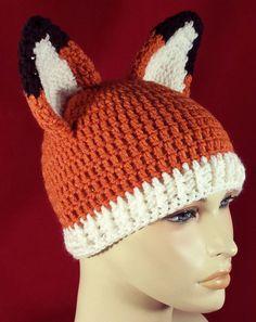 Crochet Fox Beanie Ready to Ship