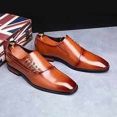 Men's Oxfords Formal Shoes Dress Shoes British Style Plaid Shoes Casual Classic British Daily Party & Evening PU Non-slipping Height-increasing Red White Black Fall Winter 2021 - US $49.34 Buy Mens Shoes, Mens Shoes Online, Mens Fashion Shoes, Fall Shoes, Spring Shoes, Patent Shoes, Men's Shoes, Comfortable Mens Shoes, Yellow
