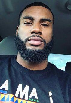Fine Black Men, Gorgeous Black Men, Cute Black Guys, Handsome Black Men, Fine Men, Beautiful Men, Dark Skin Boys, Black Men Beards, Beard Game
