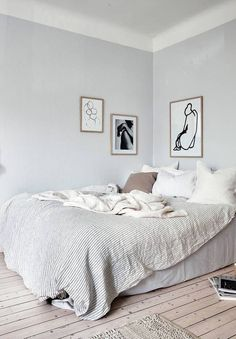 Cool grey home with a warm touch - via Coco Lapine Decor, Bedroom Inspirations, Home Bedroom, Bedroom Interior, Bedroom Design, Interior, Neutral Bedroom Decor, Room, Modern Beds And Headboards