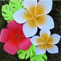Tutorial papel & papel hawaiano gigante flor plantillas SVG