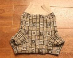 Newborn Wool Diaper Cover 0 6 12 18 month Gender Neutral Extra Small Soaker Boy Shorts Shorties Upcycled Recycled Cloth Repurposed Sweater
