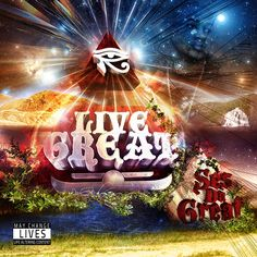 Ses Da Great's Live Great Mixtape Cover | HALUCINATED DESIGN