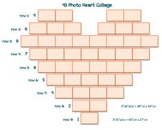 43 Photo Heart Collage -- I didn't see simple templates after a quick search so I created a couple of them. Hope this is helpful to others as well. ~m.