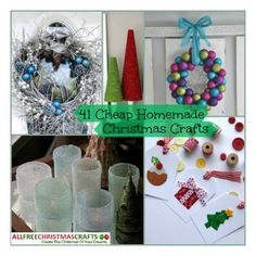 41 Cheap Homemade Christmas Crafts