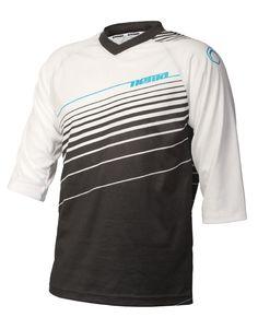The 2012 Nema Vee X Jersey - White/Black 3/4 sleeve (front) $39.99 #realtruecycling #mtb #nema - Nema Downhill MTB http://shop.nemacycling.com/vee-x-jersey/