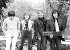 Singer Roger Daltrey, guitarist Pete Townshend, bassist John Entwistle and drummer Keith Moon of the rock and roll band 'The Who' pose for a portrait during a session at Griffith Park on February 27, 1968 in Los Angeles California.