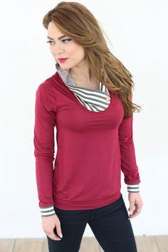 Longsleeves - Shirt Romy in himbeere - ein Designerstück von Shoko bei DaWanda