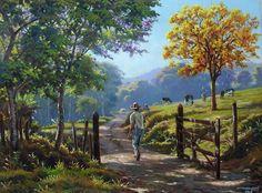 ideas for painting oil nature tree art Landscape Art, Landscape Paintings, Floral Drawing, Painting People, Nature Tree, Country Art, Cool Landscapes, Wall Art Designs, Tree Art
