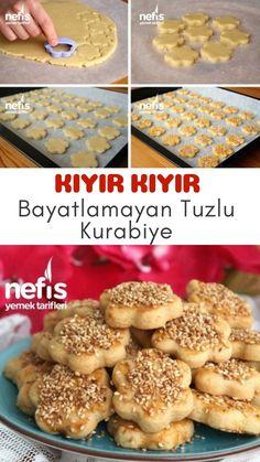 KIYIR KIYIR Tuzlu Kurabiye Tarifi (Bayatlamayan) – Nefis Yemek Tarifleri – Kolay yemekler – The Most Practical and Easy Recipes