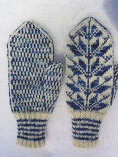 Traditional Finnish Mittens.