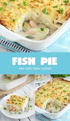 Keto Fish Pie - I leave out all the diary/cheese and sub with coconut milk