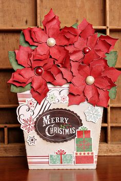 The flower pot card is actually two pieces.  The pot and then the card that slips into the pot which is a pocket.