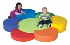 Flower Petal Play by Children's Factory[r]. $457.44. The Flower Petal Play soft play set features colorful petals in various heights, encouragingexercise and gross motor development.Infants and toddlers can relax in the center before exploring again. Petals attach with hook & loop strips for secure playing. The vinyl cover is soft and durable, and can be wiped clean between uses. And the firm foam core will retain its shape through years of play. All materials used are GREENG...