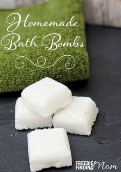 Homemade bath fizzes to promote making homemade beauty products