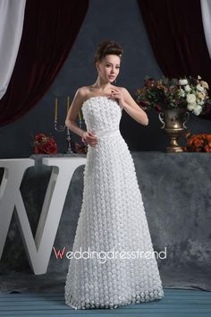 Beautiful Sexy Sheath/Column Strapless Floor-Length Wedding Dress - the Best Wedding Dresses Wholesale and Retail Online Store
