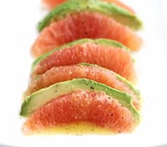 Avocado and Grapefruit Salad Recipe by Ina Garten - jeanetteshealthyliving.com. All the reviews say it's fabulous!