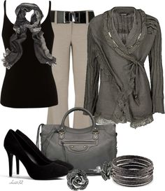 """""""Wrap Cardigan"""" by christa72 on Polyvore"""