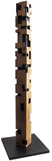 totem contemporain bois