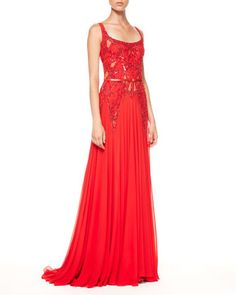 Beaded-Top+Belted+Bias-Cut+Gown+by+Elie+Saab+at+Neiman+Marcus.