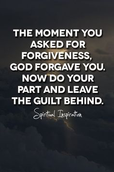 Guilt is not from God...it is a tool used by satan himself to keep our eyes and focus on ourself rather than on God.