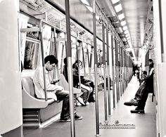 Inside the MTR train