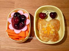 butterfly and flower from Bentobloggy.com - cute and healthy lunches!