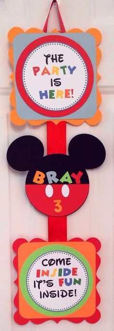Mickey Mouse Welcome Sign by MamaLikesAParty on Etsy, $10.00