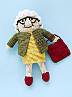 Lola Doll - knit or crochet with a correlating project bag 😀