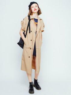 アンニュイな落ち感が素敵☆おしゃれ見せガウンコートのコーデ♪スタイル・ファッションの参考に♪