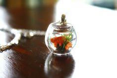 Goldfish in a bowl necklace by lepetitebonbon on Etsy
