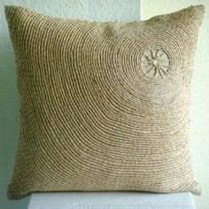Back To Earth - Throw Pillow Covers - Linen Pilllow Cover with Jute Embroidery :     Price: $55.13    .        Back To Earth - Decorative Throw Pillow Cover. This pillow cover is made using Linen fabric, embroidered with Jute Cord. Materials Used - Linen, Jute. The color of the pillow cover is Natural Beige Linen. The back of the pillow is the same Natural beige Linen fabric with a...Check Price >> http://gethotprice.com/appin/?t=B0043NELVY