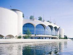 Monona Terrace, designed by Frank Lloyd Wright.