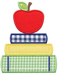 School Books Applique Design