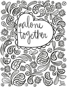 Check out surface pattern designer and illustrator Tracey Wirth's free coloring pages. Free Coloring Pages, Surface Pattern Design, Free Colouring Pages
