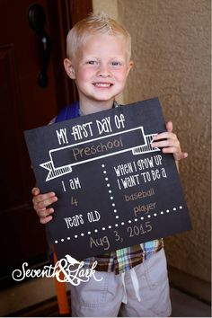 How cute is this? Its a DIY Kit to make your own Chalkbaord Back to School sign! #SeventhAndLark