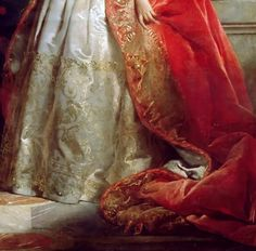 """Princesss Mathilde Bonaparte"" (1861) (detail) by Edouard Louis Dubufe (1820-1883)."