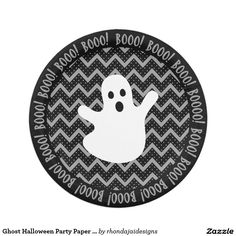 Ghost Halloween Party Paper Plate