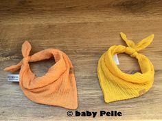 Halstücher - Baby Halstuch Musselin Baumwolle maisgelb gelb - ein Designerstück von babyPelle bei DaWanda