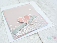 SirHenrys: Glückwunschkarte zur Hochzeit Karte Hochzeitskarte Embossed SirHenrys Hochzeit Herz Stampin Up